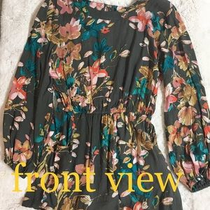 Junior-Size Floral Romper by O'Neil